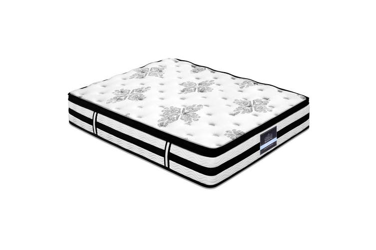 Giselle DOUBLE Mattress Bed Euro Top Pocket Spring 5 Zone Firm Foam 34CM