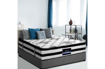 QUEEN Mattress 34CM Euro Top Pocket Spring Firm Plush Foam Bed