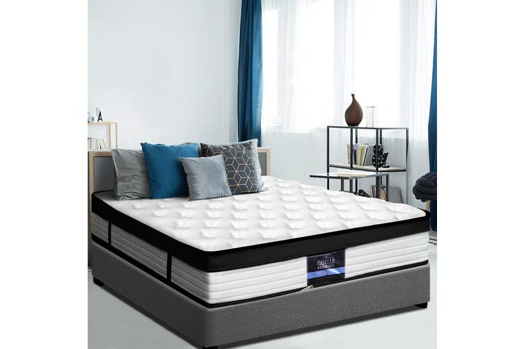 Giselle Bedding QUEEN Size Bed Mattress Euro Top Pocket Spring Foam 31cm