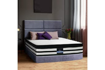 Giselle Bedding DOUBLE Size Bed Mattress Euro Top Pocket Spring Foam 27CM