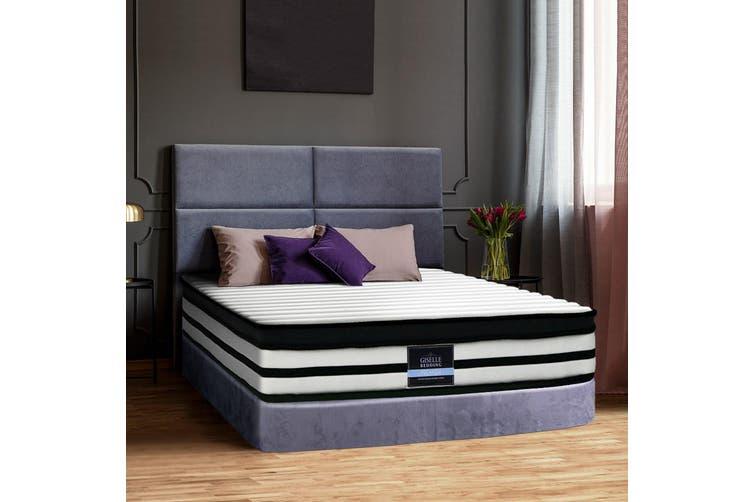Giselle Bedding QUEEN Size Bed Mattress Euro Top Pocket Spring Foam 27CM
