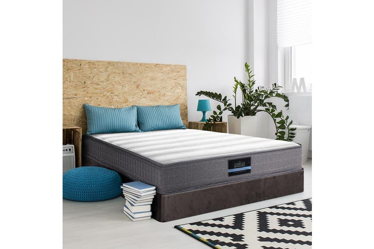 Giselle SINGLE Size Mattress Bed Tight Top Bonnell Spring Firm Foam 20CM