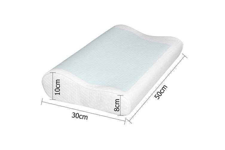 Giselle Bedding Memory Foam Pillows x2 Pillow Set Cool Gel Soft Contour Standard Size Twin Pack with Cover Hotel Bed
