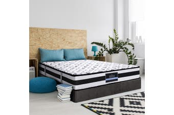 Giselle QUEEN Super Firm Mattress Bed Size Pocket Spring Plush Foam 24CM
