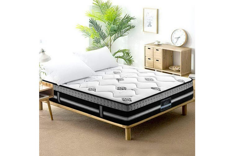 Giselle 35cm Double Size Mattress Bed 7 Zone Pocket Spring Cool Gel Foam Medium Firm