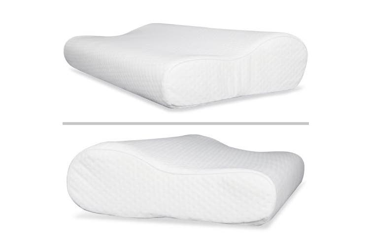 Giselle Bedding Memory Foam Pillows x2 Pillow Set Soft Contour Standard Size Twin Pack Hotel Bed