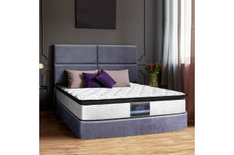 Giselle Bedding DOUBLE Size Bed Mattress Pillow Top Foam Pocket Spring 28CM