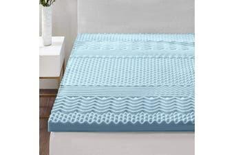 Giselle Bedding COOL GEL Memory Foam Mattress Topper BAMBOO 5CM 7-Zone Double