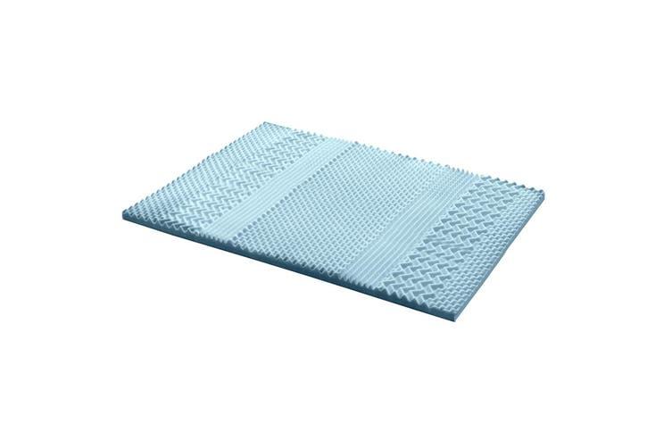 Giselle Bedding COOL GEL Memory Foam Mattress Topper BAMBOO 5CM 7-Zone King