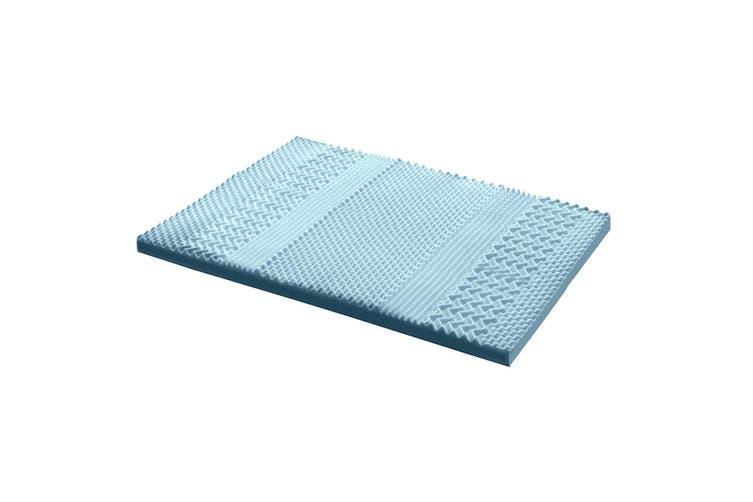 Giselle Bedding COOL GEL Memory Foam Mattress Topper BAMBOO 8CM 7-Zone Double