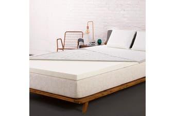 Giselle Memory Foam Mattress Topper QUEEN Bed Cool Gel 8CM Underlay Mat Cover