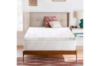 Giselle Memory Foam Mattress Topper Queen Bed Cool Gel Bamboo Cover 10CM