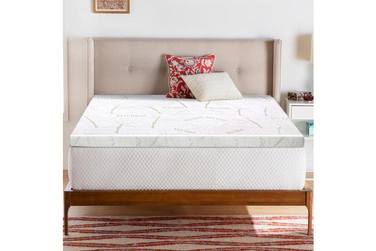 Giselle Memory Foam Mattress Topper Double Bed Cool Gel BAMBOO Cover 8CM Mat