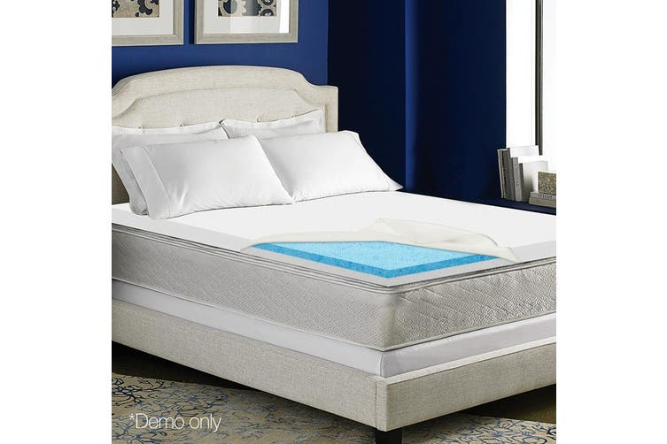 Giselle Bedding 8CM Cool Gel Memory Foam Mattress Topper Dual Layer Cover Double
