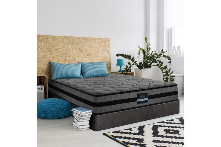 Giselle Bedding Double Size Mattress Bed Medium Firm Foam Pocket Spring 22cm Grey
