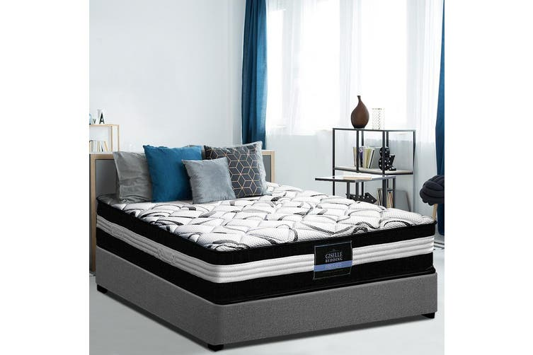 Giselle Bedding Mattress KING Size Bed Euro Top Pocket Spring Firm Foam 30CM