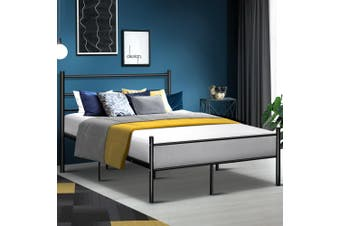 Artiss DOUBLE Size Metal Bed Frame SIMON Mattress Base Platform Foundation