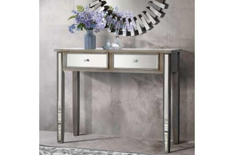 Artiss Mirrored Furniture Dressing Console Table Hallway Hall Drawers Sidebaord