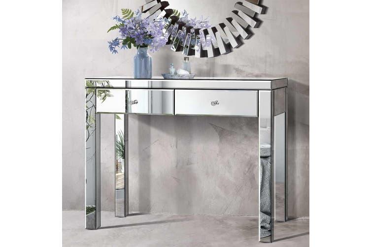 Artiss Mirrored Console Table Silver, Mirrored Hall Table Australia