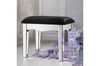 Artiss Mirrored Furniture Dressing Table Stool Set Vanity Mirror Beauty Makeup Chairs