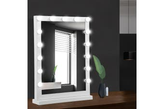 Embellir Hollywood Tabletop Makeup Mirror With LED Light Up Lightbulbs Vanity Lighted Stand