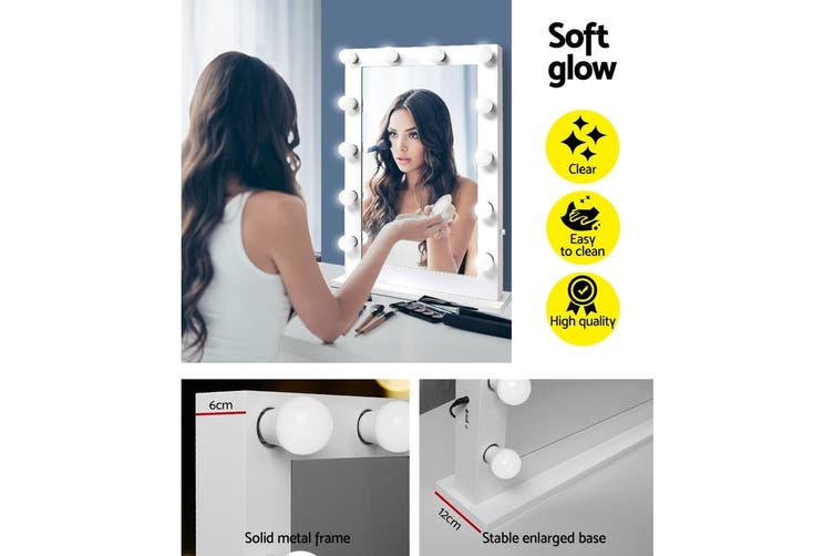 Embellir Hollywood Makeup Mirror LED Light Up Bulbs Lighted Vanity Beauty
