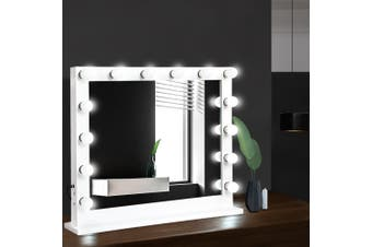 Embellir Hollywood Tabletop Adjustable Makeup Mirror With Light LED Bulbs Vanity Beauty Mirror