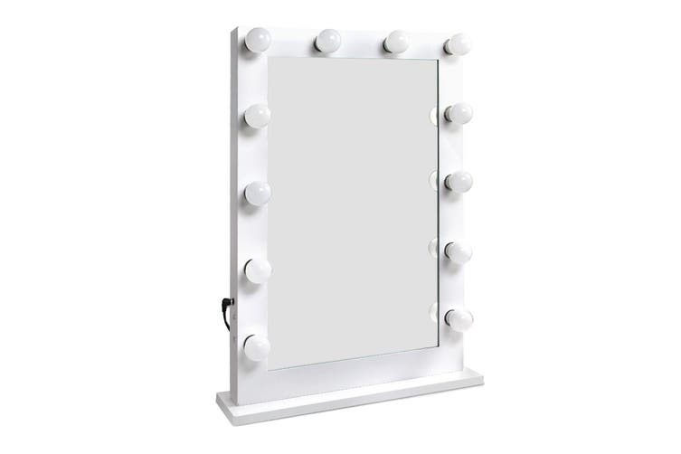 Embellir Hollywood Tabletop Adjustable Makeup Mirror With LED Light Bulbs Lighted Vanity Beauty