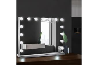 Embellir Lighted Professional Hollywood Frameless Makeup Mirror With 15 LED Lighted Vanity Beauty