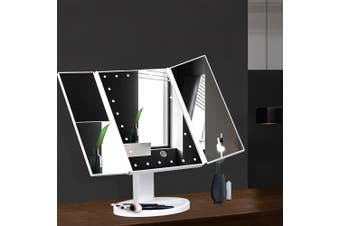 Embellir Makeup Mirror With 22 LED Light 1X2X3X Magnifying Tri-Fold Touch
