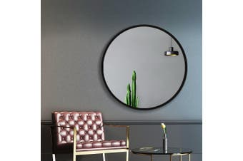 Embellir Classic Round Wall Mirror 60CM Makeup Bathroom Frameless Mirrors Vanity