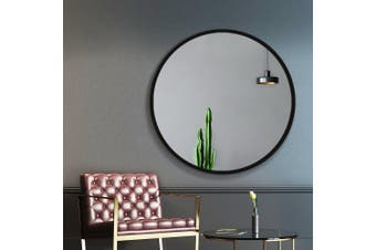 Embellir Classic Round Wall Mirror 90CM Makeup Bathroom Frameless Mirrors Vanity