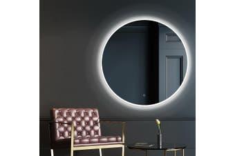 Embellir LED Round Wall Mirror 90CM Makeup Bathroom Frameless Mirrors Vanity