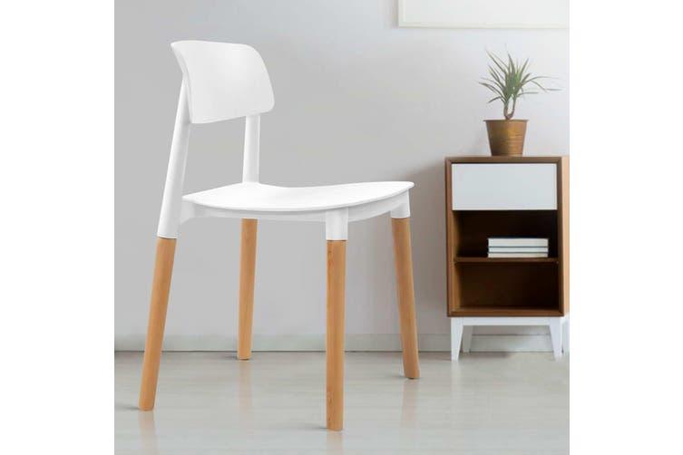 ArtissBelloch Replica Dining Chairs Stackable Chair Wood Leg Kitchen Cafe x4