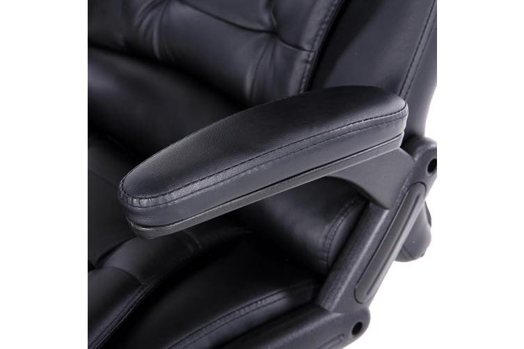 Artiss Massage Office Chair 8 Point Heated Chairs Computer Gaming Chair Black