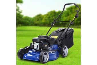 Lawn Mower Petrol Powered Push Lawnmower 4-Stroke 19'' inch 175cc Lawn Mowers Grass Catch 4-IN-1 Steel Deck Push