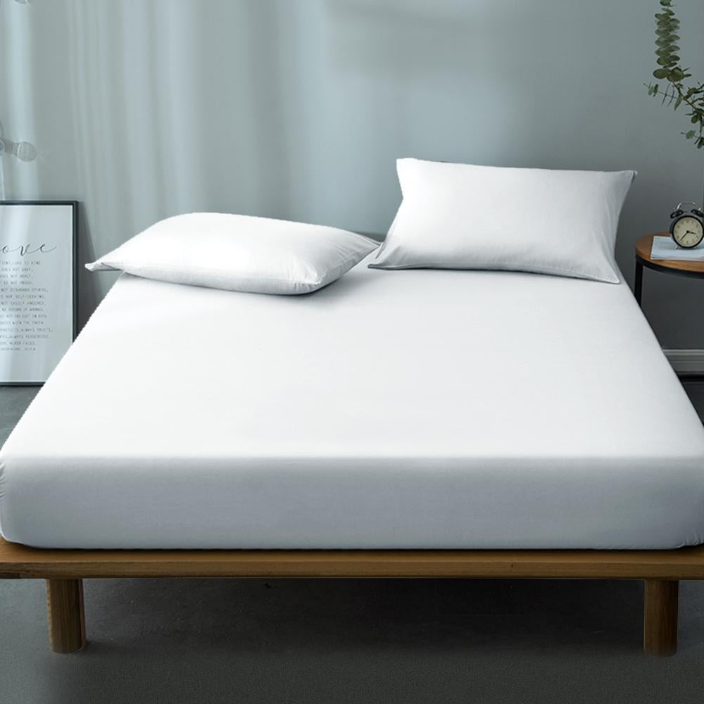 kb textile Waterproof Terry Towelling Mattress Protector Luxury Single Double King Double