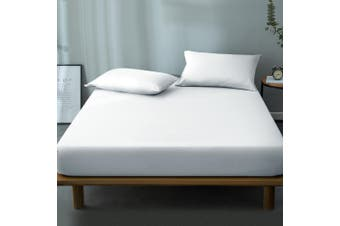 Giselle Bedding Mattress Protector Waterproof Queen Bamboo Fibre Bed Fully Fitted Cover Pad