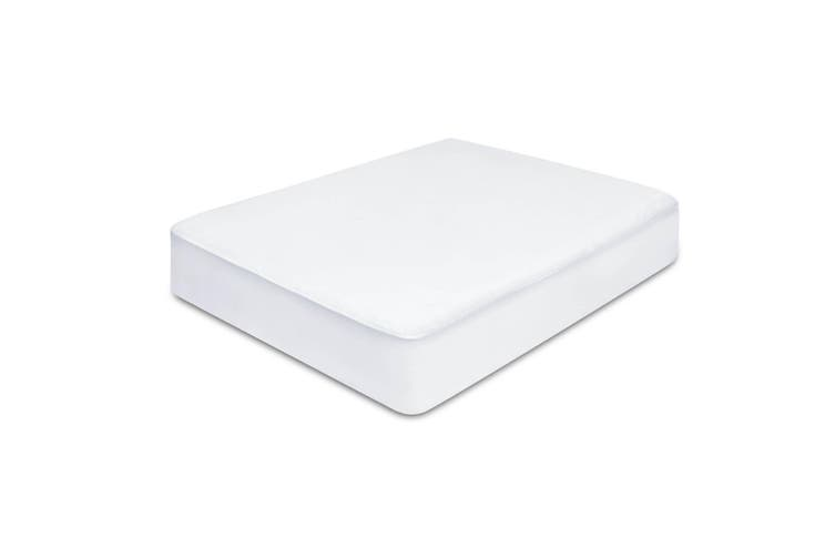 Giselle Mattress Protector Waterproof Bamboo Cover Single Fully Fitted Bed Pad Washable