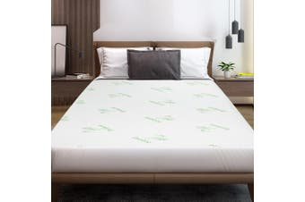 Giselle Bedding Mattress Protector Waterproof Bamboo Fibre Fully Fitted Bed Pad Cover Washable King