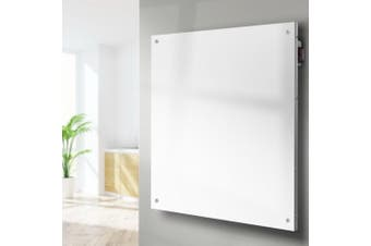 Devanti Metal Panel Heater Wall Mount Infrared Heaters Portable Small Space Radiant Heat Heating 450W White
