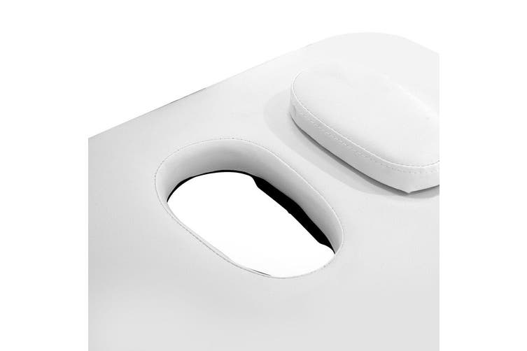 Zenses Portable Aluminum 3 Fold Massage Table - White