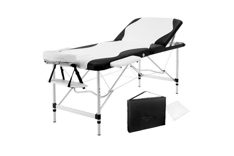 Zenses 75CM Portable Aluminium Massage Table 3 Fold Massage Beds Beauty Waxing