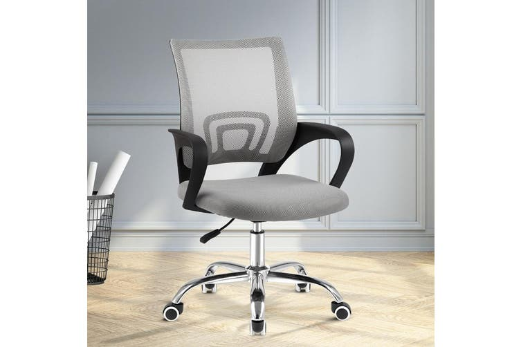 Artiss Office Chair Gaming Chair Computer Mesh Chairs Executive Mid Back Grey