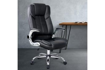 Office Chair Gaming Executive Computer Chairs Leather Seating Black