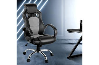 Artiss Gaming Chairs Office Chair Study Computer Desk Seating Racing Racer Grey