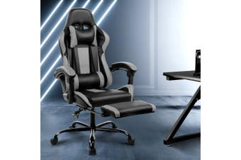 Artiss Gaming Office Chair Computer Chairs Leather Seating Racing Racer Black