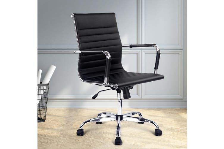 Artiss Office Chair Gaming Chair Eames Replica Computer Chairs Black