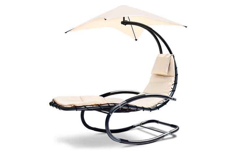 Gardeon Outdoor Sun Lounge Hanging Chair Canopy Garden Patio Furniture  Cushion