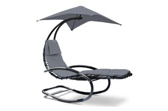 Gardeon Outdoor Sun Lounge Hanging Chair Canopy Garden Patio Furniture  Cushion